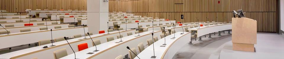 RI-MUHC auditorium used for the Meakins-Christie Laboratories seminar series.