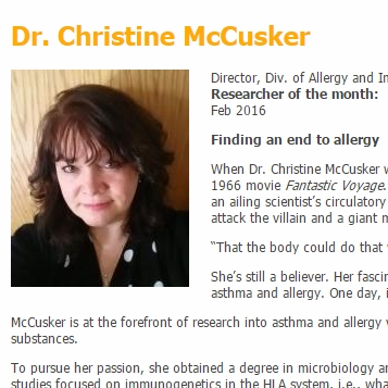 Christine McCusker: Finding an end to allergy