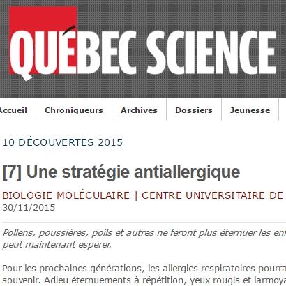 Christine McCusker: Une stratégie antiallergique