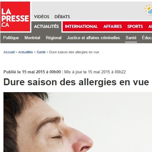 Christine McCusker: Dure saison des allergies en vue