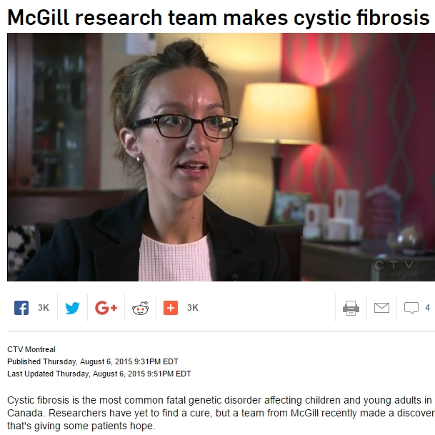 Dao Nguyen: McGill research team makes cystic fibrosis discovery