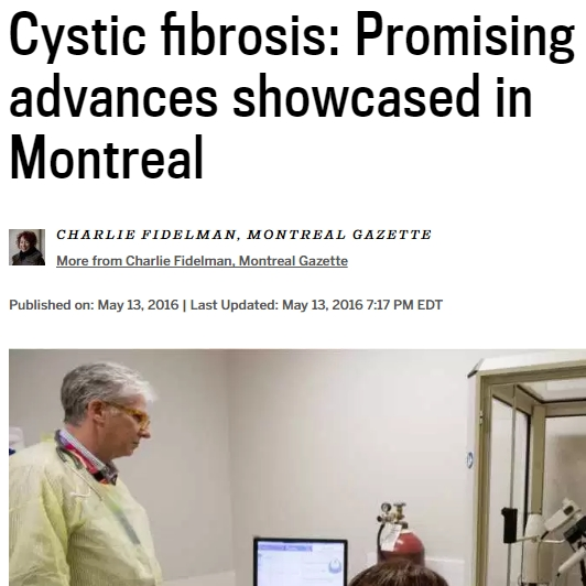 Larry Lands and Cystic fibrosis: Promising advances showcased in Montreal