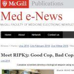 McGill Reporter on Divangahi PLOS paper: Meet RIPK3: Good Cop, Bad Cop, all in one