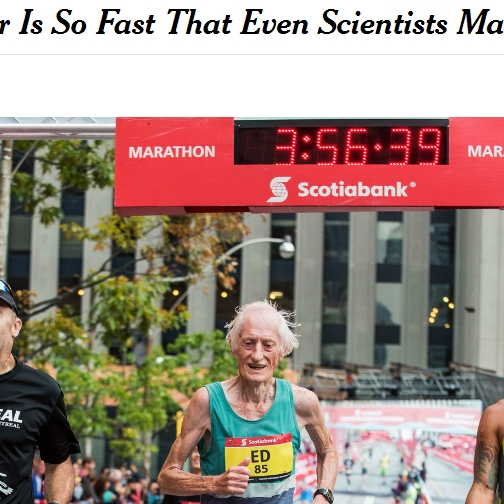 85-Year-Old Marathoner Is So Fast That Even Scientists Marvel
