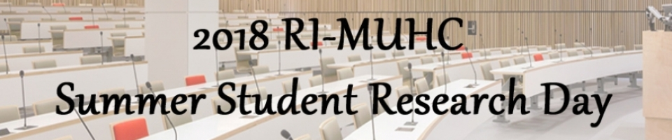 RI-MUHC summer student research day