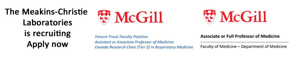 Meakins Faculty positions available