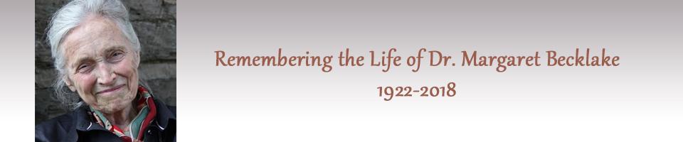 Margaret Becklake McGill Obituary