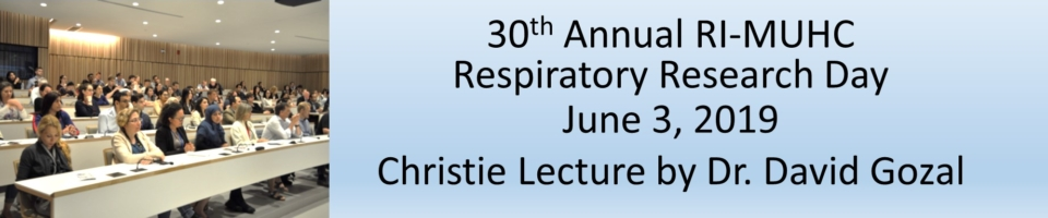 2019 RI-MUHC Respiratory Research Day