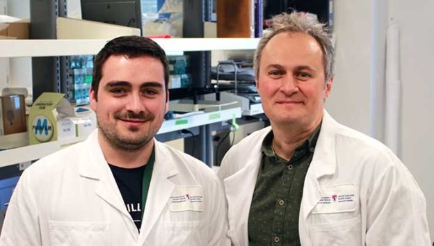 Dr. Erwan Pernet and Dr. Maziar Divangahi, scientists at the RI-MUHC and the Meakins-Christie Laboratories have identified a lipid target to tone down the hyper-active immunity to influenze infection