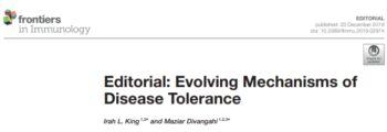 Evolving Mechanisms of Disease Tolerance