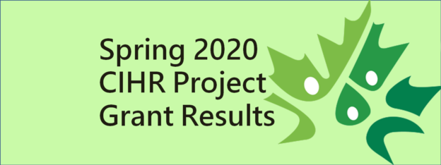 Congratulations to Sabah Hussain, Kevin Schwartzman, and Jean Bourbeau on their Spring 2020 CIHR Project Grants