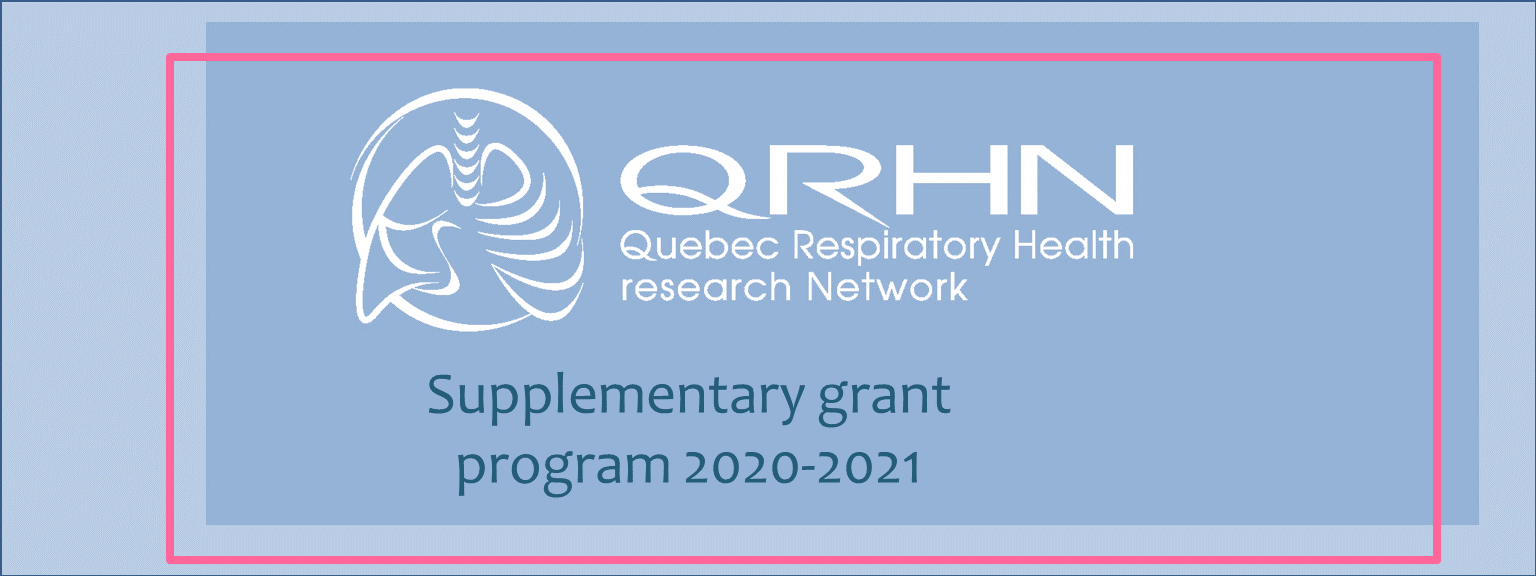 2020-2021 Quebec respiratory health network results for Student supplementary grant program - Meakins-Christie recipients