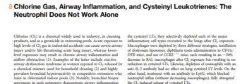 Chlorine Gas, Airway Inflammation and Cysteinyl Leukotrienes