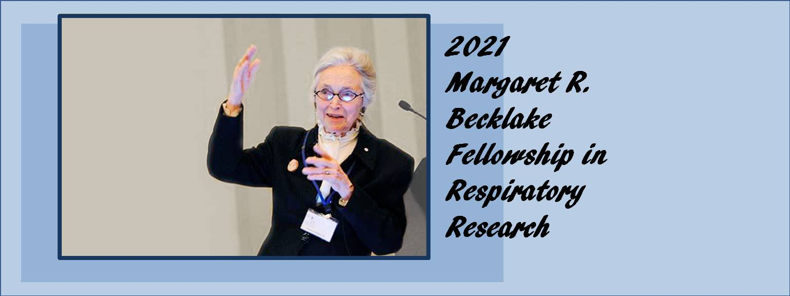 Launch of the Margaret Becklake Fellowship