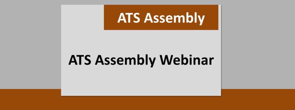 ATS Assembly webinar event hosted by Meakins, RECRU or RESP Program members