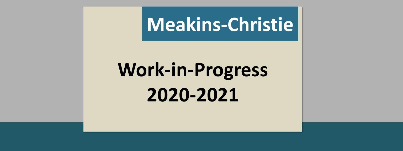 2020-2021 Meakins-Christie Work-in-Progress Seminars
