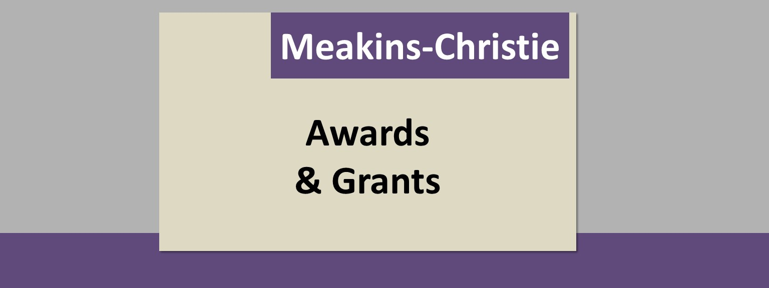grants and awards received by scientists at the Meakins-Christie Laboratories, RECRU, and the RESP Program of the RI-MUHC