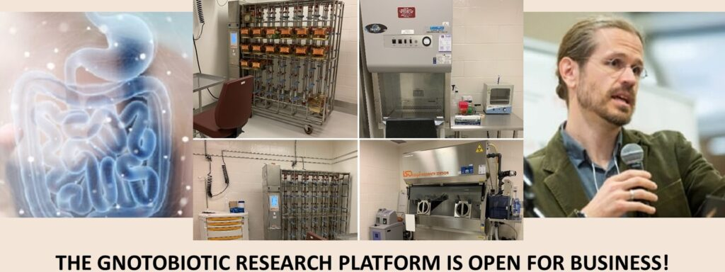 The Gnotobiotic Research Platform, under the leadership of Dr. Irah King, is open for business!