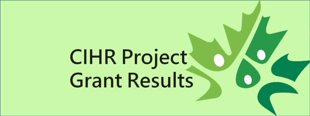 CIHR Project grant results for Meakins-Christie Laboratories and RESP program